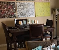 Wood Dining Room table set w/4Chairs