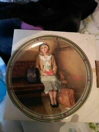 woman in brown jacket and green dress printed ceramic decorative plate Hamilton, L8E 3H1
