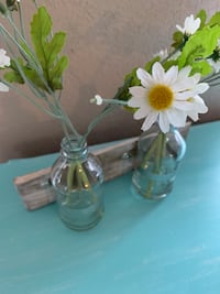 Wall hanging glass bottles