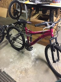 Pink and black hardtail mountain bike Laconia, 03246