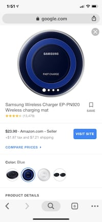 black and blue Samsung wireless charging pad screenshot Hagerstown, 21740