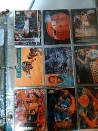 assorted basketball trading cards