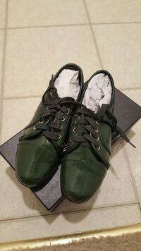green and black patent leather lace up shoes Alexandria, 22304