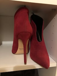 pair of red suede heeled shoes size 7 from forever 21 wore them ones  Seaside, 93955