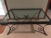 Z Gallery solid wrought iron & glass coffee table Fairfax Station, 22039