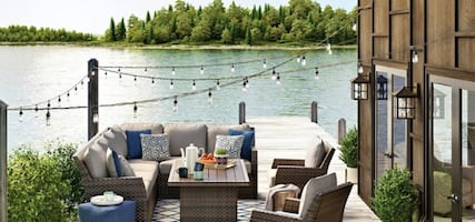 $49 DOWN PATIO FURNITURE SALE | Outdoor Sectional with Table & Lounge