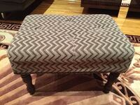 3 piece rectangular ottoman zig zag design brown and olive color
