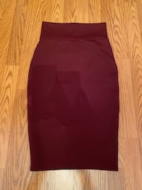Sirens. Wine red pencil skirt
