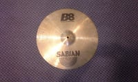 "Sabian B8 16"" Thin Crash cymbal - used-usagée MONTREAL"