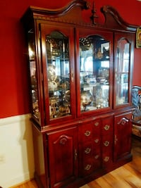 Cherry Wood Buffet and China Hutch Linden, 22642