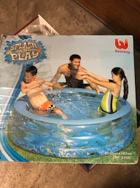 Kiddies inflatable portable pool