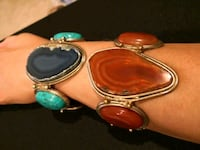 Heavy Cuff bracelet with embedded natural stone  Arlington, 22201