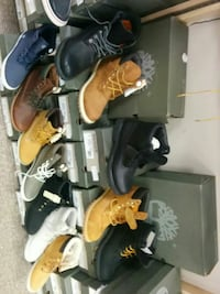 assorted pair of Timberland work boots Toronto, M1L 2L6