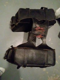 black leather Harley Davidson saddle bag