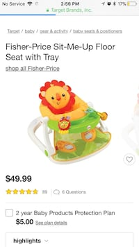 Infant sit me up chair just like this one minus a dangly toy
