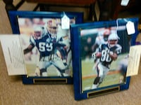 Troy Brown and Willie McGinnist signed photos in f Carver, 02330