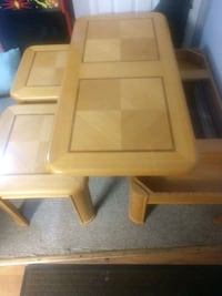 Coffee table with storage and two end tables..