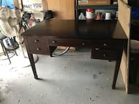 brown wooden single pedestal desk Tampa, 33616
