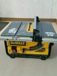 black and yellow DeWalt table saw Surrey, V3J 1S3