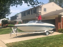 1995 Rinker 180 with trailer