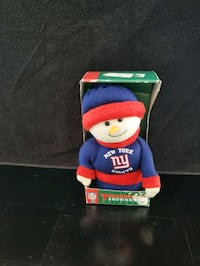 NFL NY Giants Touchdown Snowman Christmas Plush