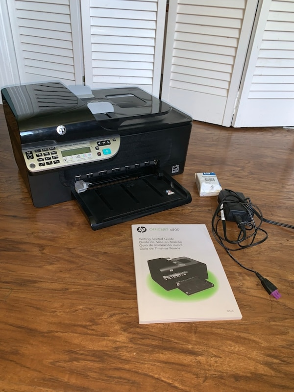 HP Officejet 4500 wireless printer with new ink cartridge