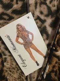 Leopard bodycon dress Spring, 77379