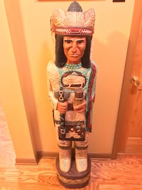 5 ft White Buffalo Chief CIGAR STORE INDIAN Native American Made Frank Gallagher Fairfax, 22031