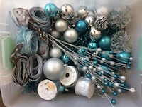 Assorted silver and blue xmas tree decor San Diego, 92101