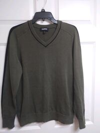 Express men's M sweater dark green