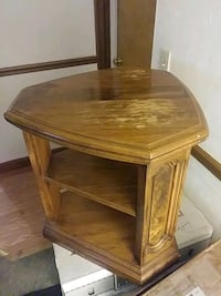 brown wooden 2-layer side table Florissant, 63031