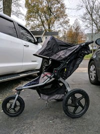 Single Bob jogging stroller 21 km