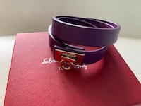 Pre-Owned Ferragamo purple leather with gold hardware bracelet Mississauga, L5N 8H6