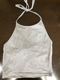 Grey brandy Melville halter crop top Oakville, L6L 6V7