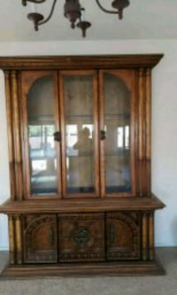 brown wooden framed glass display cabinet Hayward, 94541