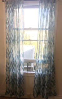 Teal Sheer Curtains from Bed Bath and Beyond San Francisco