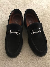 Gucci women black suede iconic luxury loafers 7.5 Alexandria, 22311