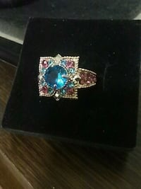 Pink and blue gemstone ring size 9 Edmonton, T6A 3Z1
