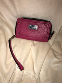 red and black leather wristlet Huntersville, 28078