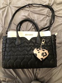 Betsey Johnson Quilted Heart Bag/Purse