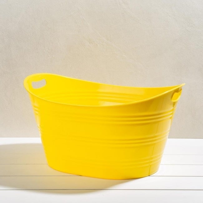 Yellow plastic tub