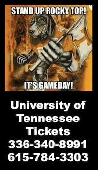 University of Tennessee ticket