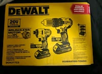 BRAND NEW BRUSHLESS DeWalt Drill & Impact Driver kit Brampton, L6S 3E5