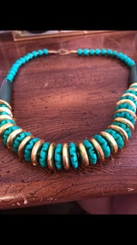 teal and silver beaded necklace Denver, 80202