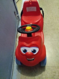 toddler's red ride on car