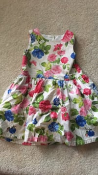 white, green, and red floral sleeveless dress Burnaby, V5E 3N5
