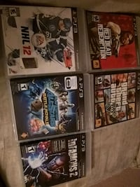 six assorted PS3 game cases Mississauga, L5A 3T1