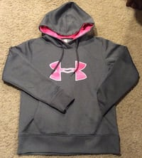 gray and pink Under Armour pull-over hoodie Calgary, T2J