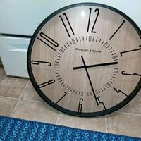 Wall clock oversized ( sterling and noble clock co)