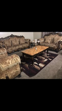 Couches set with 2 coffee table